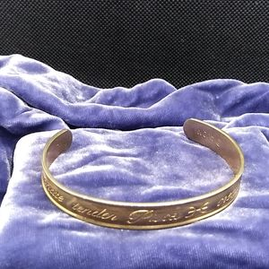 Vintage Pisces Gold Tone Bangle